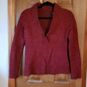 Moda International Red V-Neck Sweater
